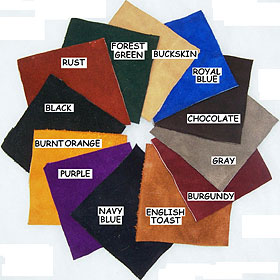 image of color swatches available for Little Joe Horse Gear saddle leathers