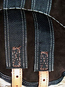 close-up view of Little Joe Horse Gear saddle details