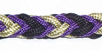 Braided Combination with Gold, Black and Purple Ropes